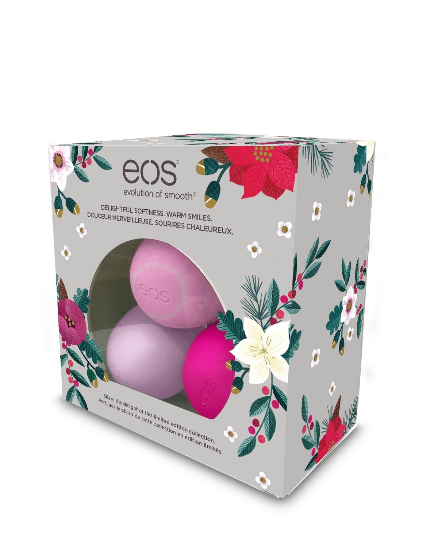 Darujte dokonalé rty! Vánoční edice balzámů eos™ jsou tu