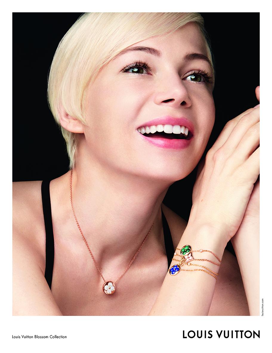 Michelle Williams je tváří kolekce šperků Louis Vuitton
