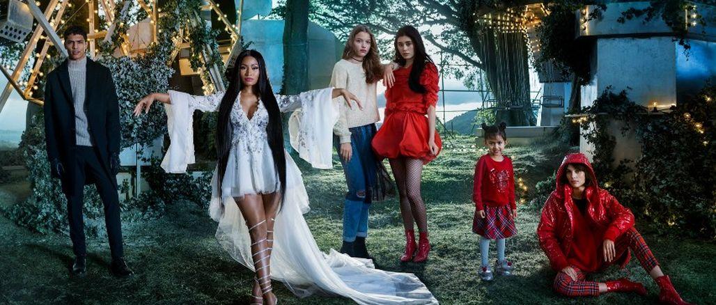 Nicki Minaj je hvězdou vánoční kampaně H&M