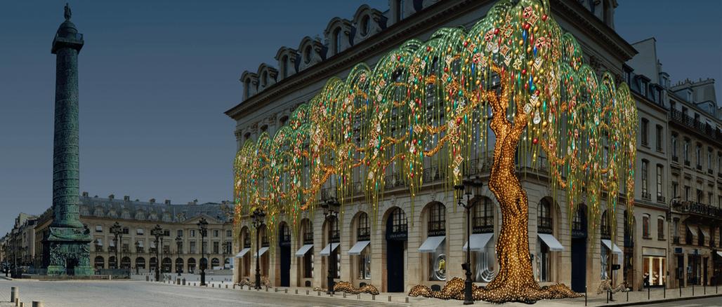 Vánoční výlohy Louis Vuitton 2018: Všechny stromy světa