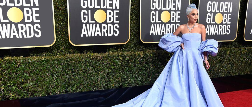 Lady Gaga zazářila na Zlatých glóbech ve speciálních šatech a diamantech