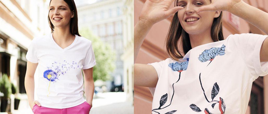 Vlčí mák i art deco: Kateřina Geislerová představuje kolekci triček